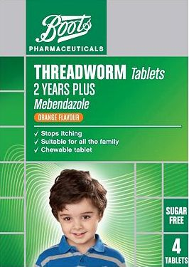 Boots Pharmaceuticals, 2041[^]10033263 Boots Threadworm Tablets - 4 Tablets 10033263