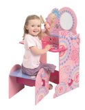 Barbie Wooden Vanity Desk And Stool