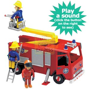 Fireman Sam Friction Action Jupiter With Sound and Figures