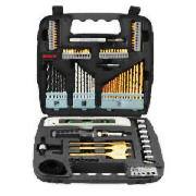 bosch 100 piece accessory set review compare prices buy online. Black Bedroom Furniture Sets. Home Design Ideas