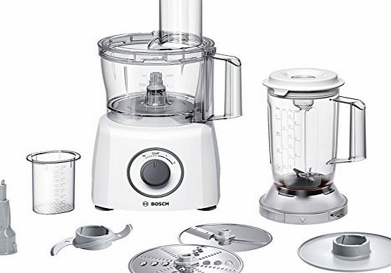 Bosch MCM3200W food processor - food processors (White, Plastic, Stainless steel, Chopper, Mixing)