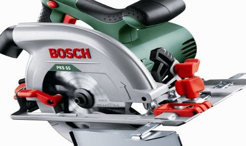 bosch pks 55 1200w circular saw review compare prices buy online. Black Bedroom Furniture Sets. Home Design Ideas