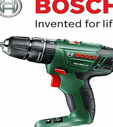 Bosch PSB 1800 Li-2 Lithium-Ion Cordless Combi Hammer/Impact Drill (18V-Li) (NAKED/Bare Version) c/w Main Body   Keyless Chuck (Battery amp; Charger NOT included) c/w STANLEY KeyTape   Cadbury Chocol
