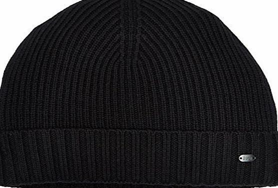 BOSS Green Mens 50321964 Beanie Hat, Black-Schwarz (Black 001), One Size