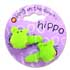 BANG ON THE DOOR 2 HIPPO SLEEPY HAIR CLIPS