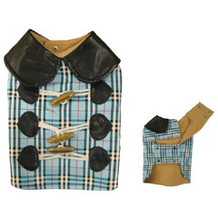 Featuring a tartan design with leather effect collar this jacket will have your dog turning heads.   - CLICK FOR MORE INFORMATION