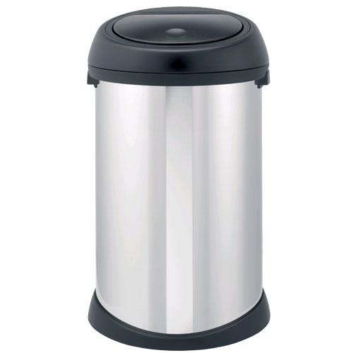 Brabantia 50l brilliant steel touch bin product image - Poubelle brabantia touch bin 50l ...