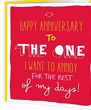 Brainbox Candy Funny Humorous Anniversary Greetings Card