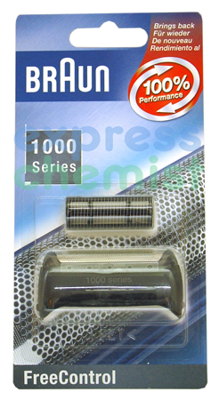 Braun 1000 Series Foil and Cutter Pack. Braun 1000 Series Foil for FreeControl. To ensure you get the best performance from your shaver it is best to replace your foil and cutterblock every 18 months. It is best to change both parts at the same time  - CLICK FOR MORE INFORMATION
