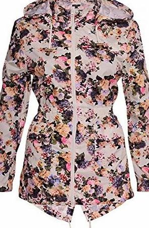 Brave Soul Womens Designer Brave Soul Festival Rain Mac Trench Waterproof Lightweight Coat UK 14 / US 12/ AUS 16/ EU 42/ Large Floral