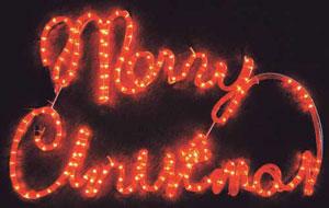 Outdoor Light Sign Merry Christmas No description