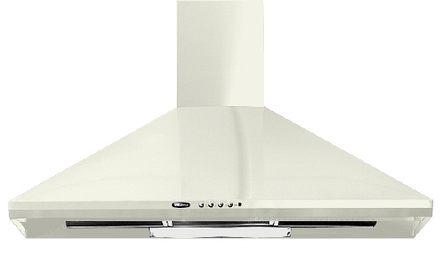 KB170-60-C 60cm Chimney Hood in Cream.