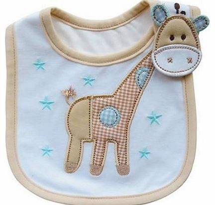 Broadfashion Lovely Cute Cartoon Pattern Toddler Baby Waterproof Saliva Towel Baby Bibs (Giraffe Pattern 2)