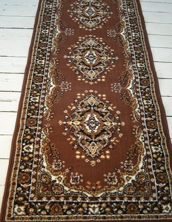 Brown Lancaster Persian style rug 60x220cm Brown Lancaster Persian Style runner. 60x220cm product image