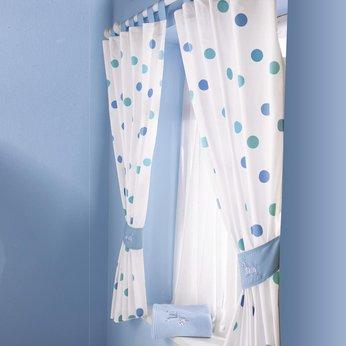 bruin blue spotty zebra curtains and tiebacks review