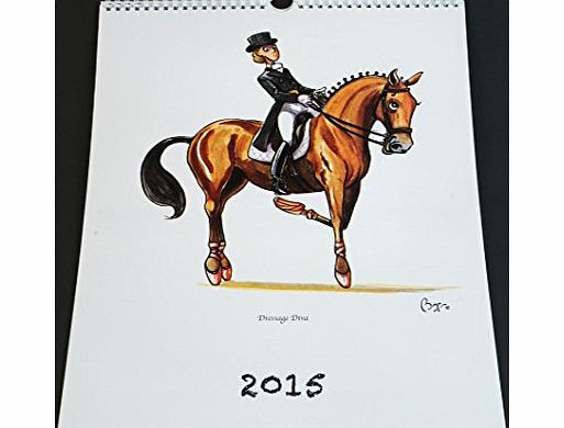 Bryn Parry Studios The 2015 Equestrian Calendar - Funny cartoon images of horses, ponies, horse riding by iconic cartoonist Bryn Parry. Large 320mmx400mm month a page calendar. Horsey gift, birthday, christmas present i product image