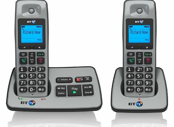 2500 Cordless DECT Phone with Answer Machine (Pack of 2)