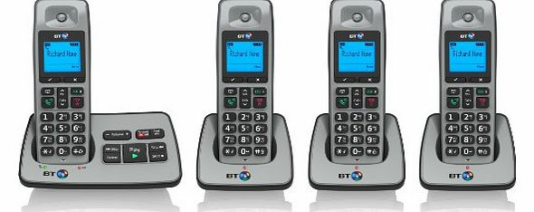2500 Cordless DECT Phone with Answer Machine (Pack of 4)