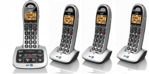4500 QUAD Cordless Big Button Phone with Answer Machine and Nuisance Call Blocker (Pack of 4)