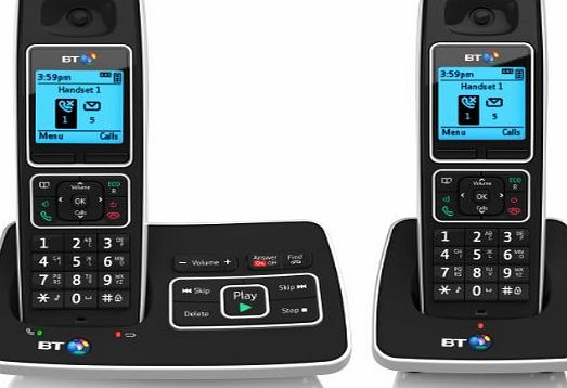 6500 Cordless DECT Phone with Answer Machine and Nuisance Call Blocking (Pack of 2)