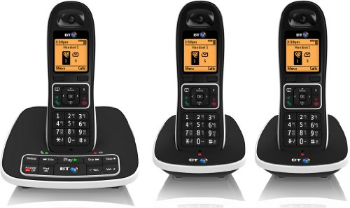 7600 Cordless DECT Phone with Answer Machine and Nuisance Call Blocker (Pack of 3)