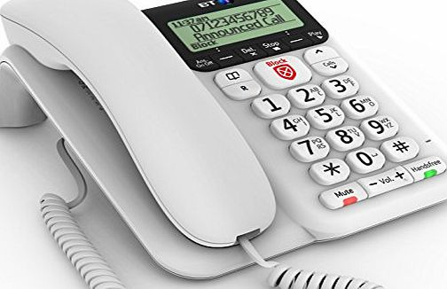 BT Decor 2600 Advanced Call Blocker Corded Telephone - White