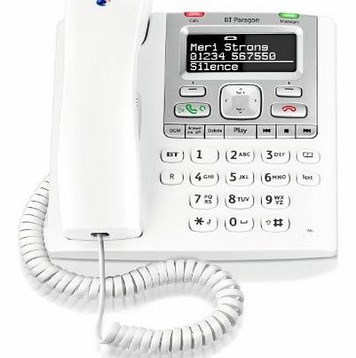Paragon 550 Corded Telephone Answering Machine - White