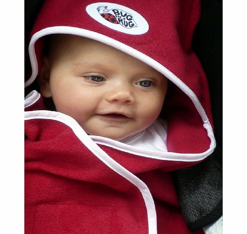 Bug in a Rug Sling Blanket and Fleece Pramsuit (Small, Red) product image