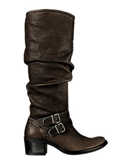 Slouch Boot Brown Leather