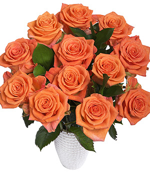 Bunches.co.uk 12 Orange Roses FORR