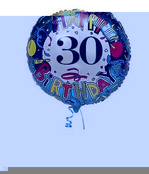 Bunches.co.uk 30th Birthday Balloon B30