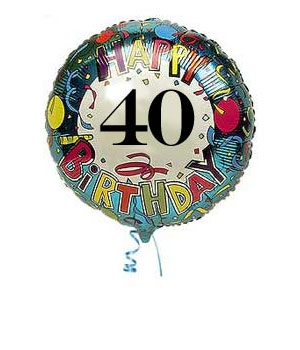 Bunches.co.uk 40th Birthday Balloon B40