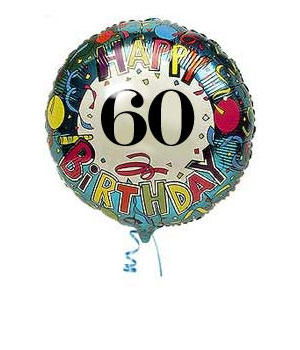 Bunches.co.uk 60th Birthday Balloon B60