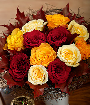 Bunches.co.uk Autumn Roses FAROS