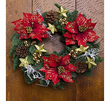 Bunches.co.uk Festive Gold Star Wreath XWGOLD