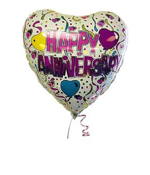 Bunches.co.uk Happy Anniversary Balloon