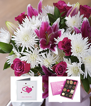 Bunches.co.uk Happy Anniversary Flower Gift FHANG