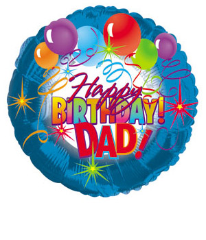 Bunches.co.uk Happy Birthday Dad Balloon BBDAD