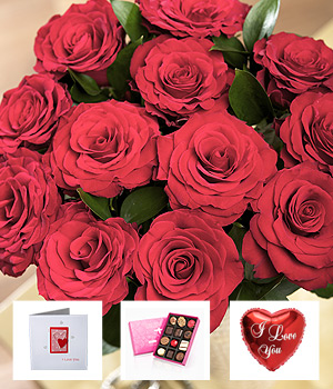 Bunches.co.uk I Love You Flower Gift SDLOVG