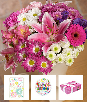 Bunches.co.uk Luxury Birthday Flower Gift FBLUX