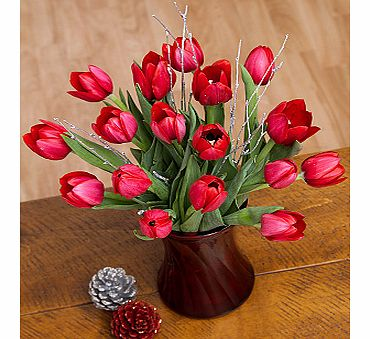 Bunches.co.uk Red Christmas Tulips XRTUL