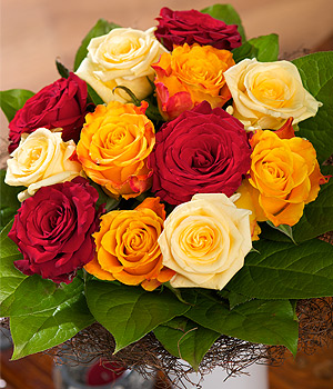 Bunches.co.uk Sunset Roses FAROS