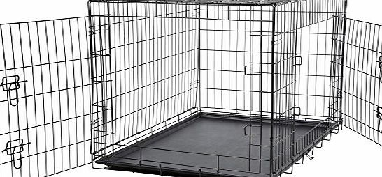 Bunty Metal Dog Cage Crate Bed Portable Pet Puppy Training Travel Carrier Basket - X-Small