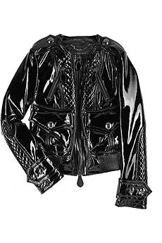 Patent leather bomber jacket - CLICK FOR MORE INFORMATION