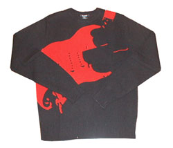 Burro Guitar knit red