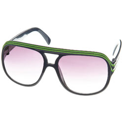 Burton Green Stripe Aviators