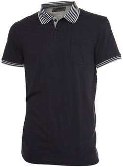 Burton Navy Multi Tipped Polo Shirt