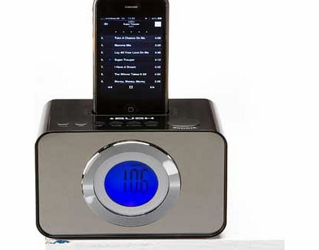 bush alarm clock radio with dock black review compare prices buy online. Black Bedroom Furniture Sets. Home Design Ideas