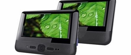 Bush DVD9957BUK 9`` LCD Twin Dual Screen portable in car DVD Players - Black product image