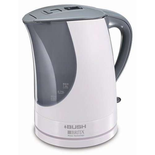 Bush KJ034 chrome and black jug kettle